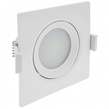 Luz LED 90mm empotrada cuadrada 7W blanco día 6500K