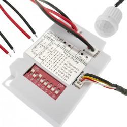 Detector de movimiento por infrarrojos de techo empotrable mini DC