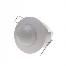 Detector de movimiento por infrarrojos de techo empotrable color blanco