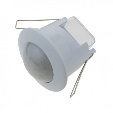 Detector de movimiento por infrarrojos de techo empotrable blanco