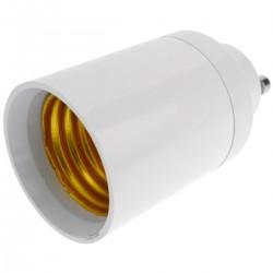 Adaptador casquillo de bombilla GU10 a E27