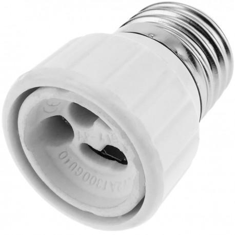 Adaptador casquillo de bombilla E27 a GU10