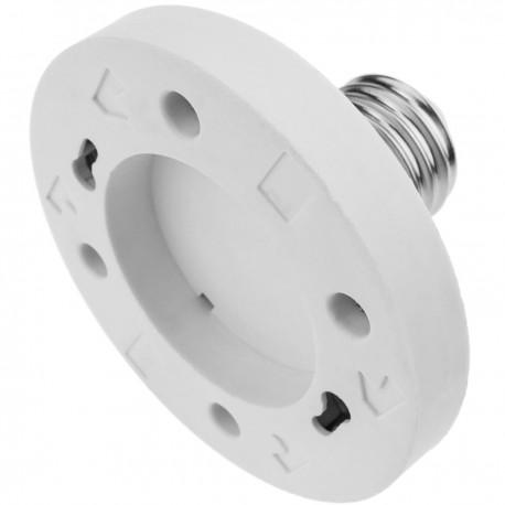 Adaptador casquillo de bombilla E27 a GX53
