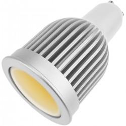 Bombilla LED COB GU10 230VAC 5W 90° 50mm luz cálida