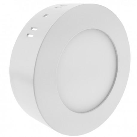 Panel LED circular downlight superficie de 120mm 6W blanco frío día