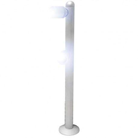Spot LED plata 2 foco 2W 25cm blanco día