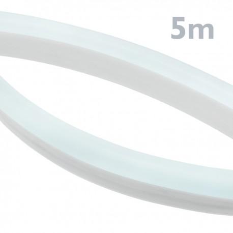 Tira luz flexible LED Neón Flex LNF 16x8mm 220VAC de 5m blanco día