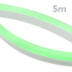 Tira luz flexible LED Neón Flex LNF 16x8mm 220VAC de 5m verde