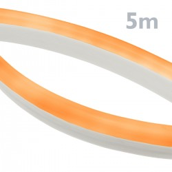 Tira luz flexible LED Neón Flex LNF 16x8mm 220VAC de 5m naranja