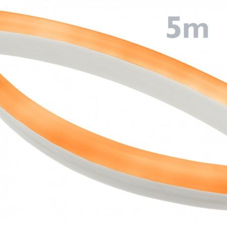 Tira luz flexible LED Neón Flex LNF 16x8mm 220VAC de 5m naranja