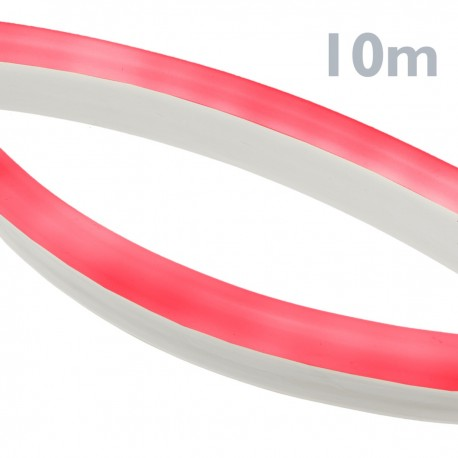 Tira luz flexible LED Neón Flex LNF 16x8mm 220VAC de 10m rojo