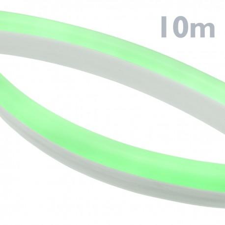 Tira luz flexible LED Neón Flex LNF 16x8mm 220VAC de 10m verde
