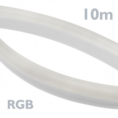 Tira luz flexible LED Neón Flex LNF 26x14mm 220VAC de 10m RGB multicolor