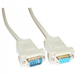 Cable Serie Null-Modem 10m (DB9-M/H)