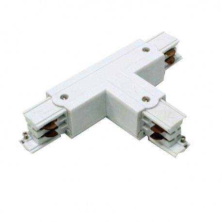 Unión empalme triple para carril rail de luz de techo 3-via blanco