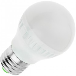 Bombilla LED G45 E27 230VAC 3W luz fría día 6000K