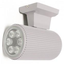 Foco LED gris con soporte de pared 157x155x97mm 6W blanco con luz fría día