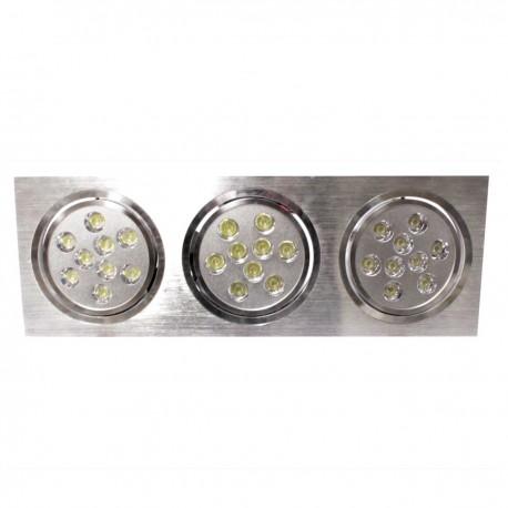 Downlight empotrable LED 3x9W 139x400mm rectangular blanco frío día 6000K