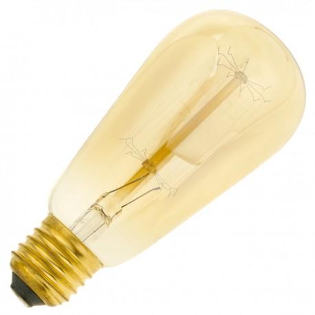 Bombilla Edison de filamentos incandescentes E27 220VAC 40W 58x131mm ST58
