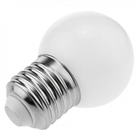 Bombilla LED G45 E27 230VAC 0,5W luz blanco frío