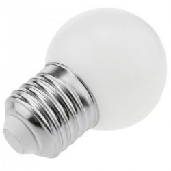 Bombilla LED G45 E27 230VAC 0,5W luz blanco cálido