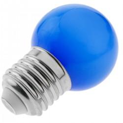 Bombilla LED G45 E27 230VAC 0,5W luz azul