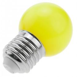 Bombilla LED G45 E27 230VAC 0,5W luz amarilla