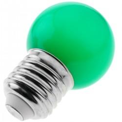 Bombilla LED G45 E27 230VAC 0,5W luz verde