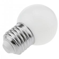 Bombilla LED G45 E27 230VAC 1,5W luz blanco cálido