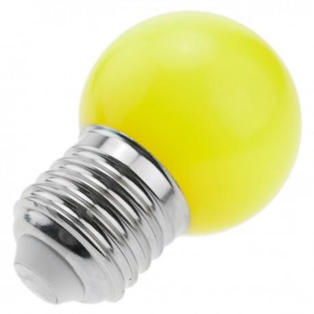 Bombilla LED G45 E27 230VAC 1,5W luz amarilla