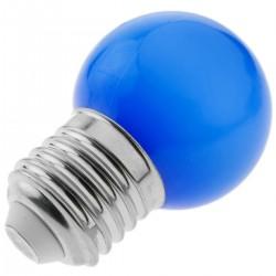 Bombilla LED G45 E27 230VAC 1,5W luz azul