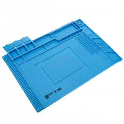 Superficie para trabajo de silicona de sobremesa para estación de soldadura antiestática 454x298 mm
