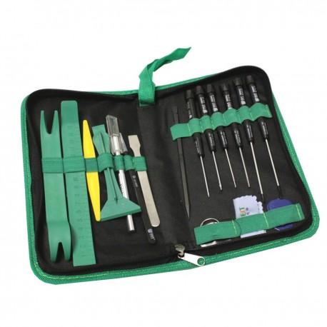 Kit de herramientas para dispositivos electrónicos de 17 piezas modelo BEST-112