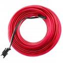 Cable electroluminiscente rosa de 2.3mm en bobina 5m con pilas