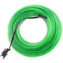 Cable electroluminiscente verde fuerte de 2.3mm en bobina 5m con pilas
