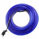 Cable electroluminiscente azul de 2.3mm en bobina 5m con pilas