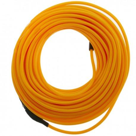 Cable electroluminiscente dorado de 2.3mm en bobina 5m con pilas