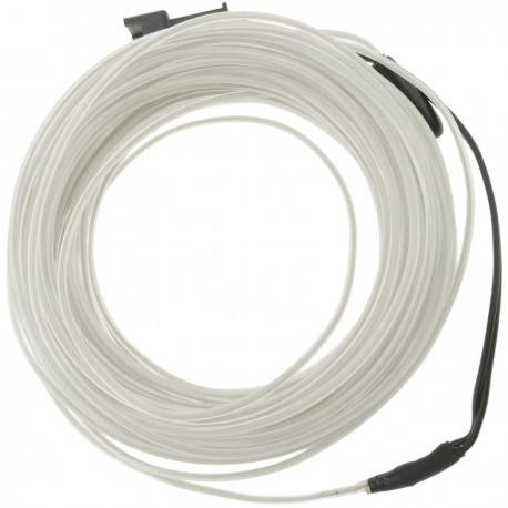 Cable electroluminiscente transparente-blanco de 2.3mm en bobina 5m con pilas