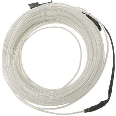 Cable electroluminiscente blanco de 2.3mm en bobina 5m con pilas