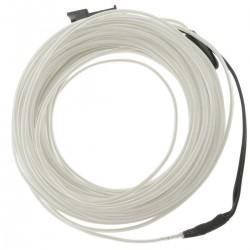 Cable electroluminiscente transparente-azul de 2.3mm en bobina 10m conectada a 220VAC