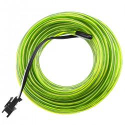 Cable electroluminiscente amarillo de 2.3mm en bobina 10m conectada a 220VAC