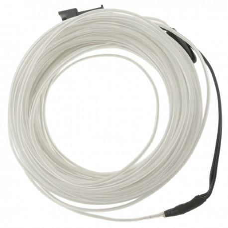 Cable electroluminiscente blanco-azul de 2.3mm en bobina 10m conectada a 220VAC