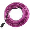 Cable electroluminiscente violeta de 2.3mm en bobina 10m conectada a 220VAC