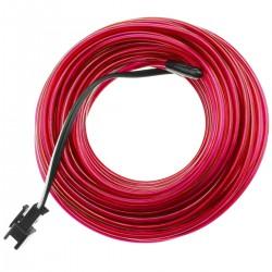 Cable electroluminiscente rosa de 2.3mm en bobina 10m conectada a 220VAC