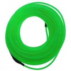 Cable electroluminiscente verde fuerte de 2.3mm en bobina 10m conectada a 220VAC