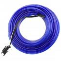 Cable electroluminiscente azul de 2.3mm en bobina 10m conectada a 220VAC