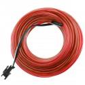 Cable electroluminiscente rojo de 2.3mm en bobina 10m conectada a 220VAC