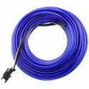 Cable electroluminiscente azul marino de 2.3mm en bobina 10m conectada a 220VAC