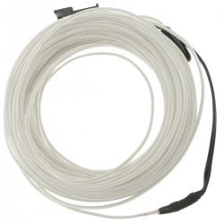 Cable electroluminiscente transparente-blanco de 2.3mm en bobina 10m conectada a 220VAC