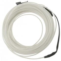 Cable electroluminiscente blanco de 2.3mm en bobina 10m conectada a 220VAC